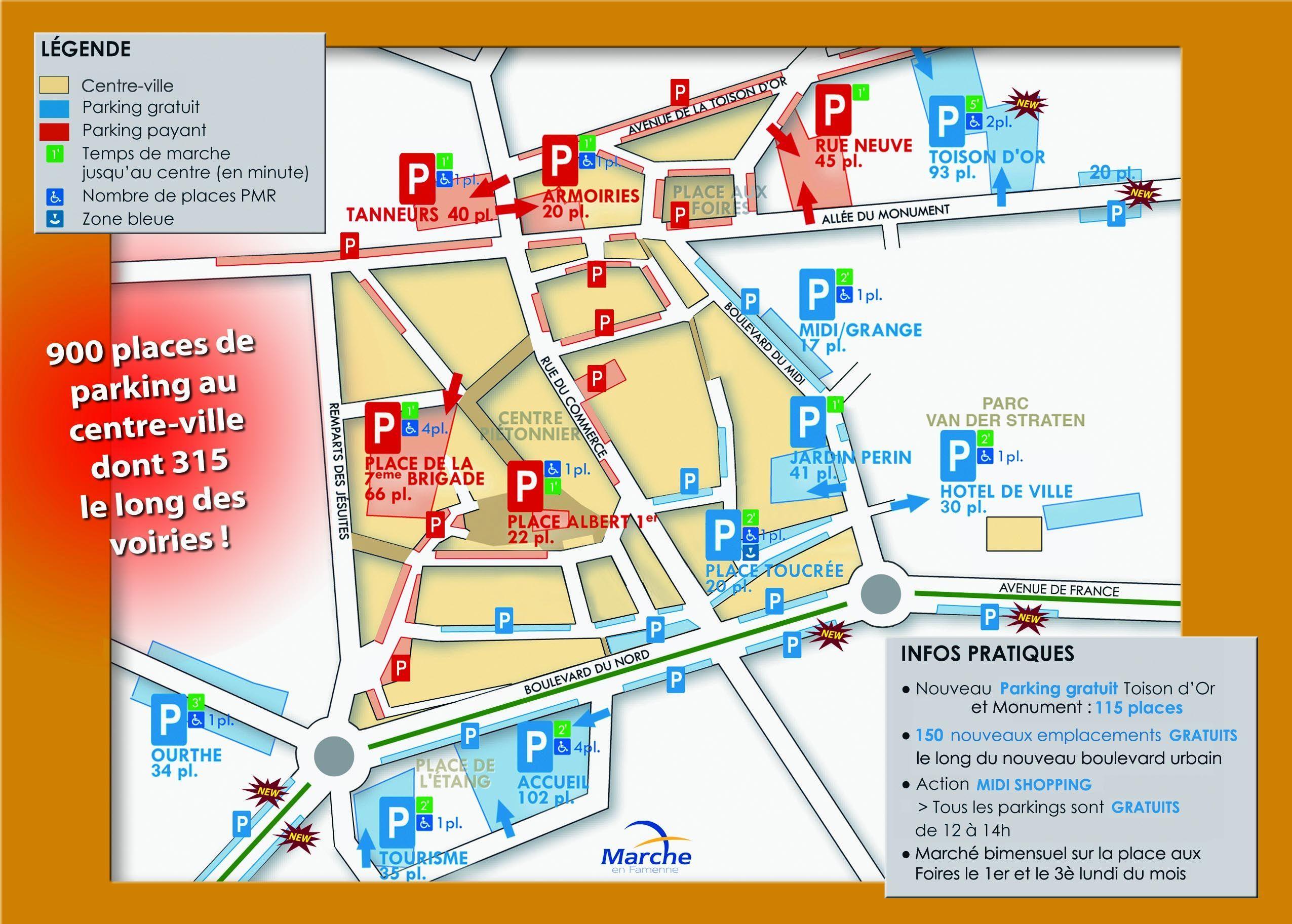 Où se garer à Marche-en-famenne ?