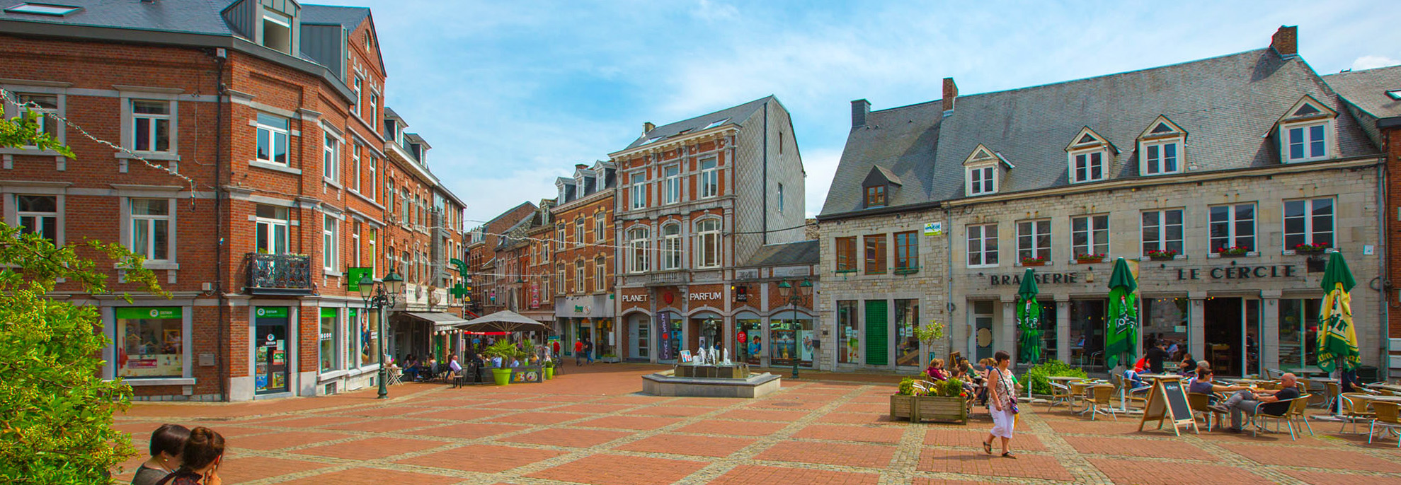 Marche-en-Famenne - Rue commerçante
